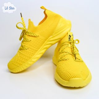 Yellow Mid Top Sneakers