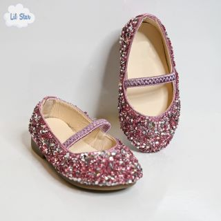 Pink Sequins Shoes