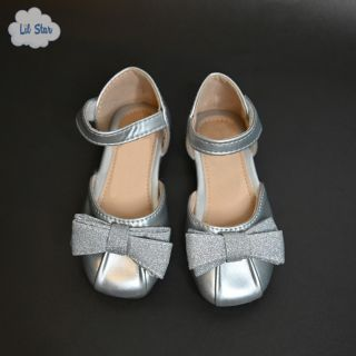 Silver Princess Shoes (With Heels)