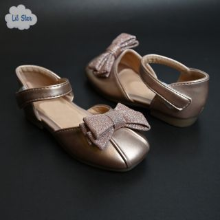 Rose Gold Princess Shoes (With Heels)