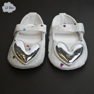 Silver Heart Shoes